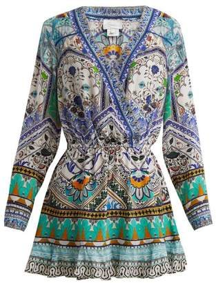 Camilla Everlasting Udaipur Print Silk Dress - Womens - Green Multi