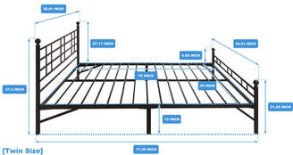 Best Price Quality Model H Platform Bed Frame