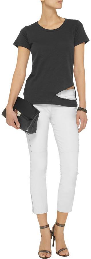 LnA Donaldson cutout slub-jersey T-shirt