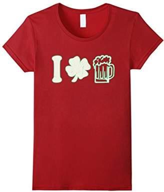 DAY Birger et Mikkelsen St. Patricks I Shamrock Love Drink Beer Irish T-Shirt