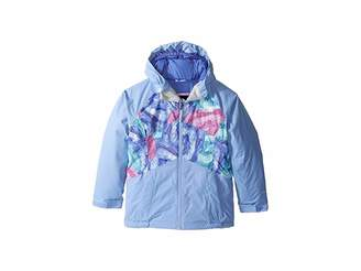 The North Face Kids Brianna Insulated Jacket (Little Kids/Big Kids) (Grapemist Blue Crystal Print
