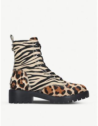 Steve Madden Grid calf hair ankle boots