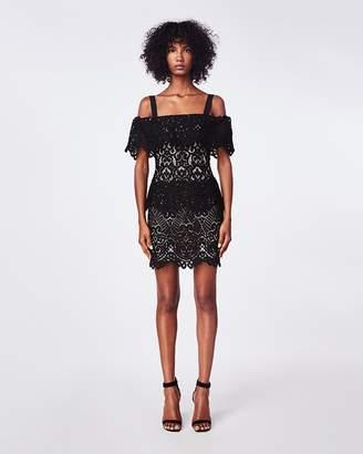 Nicole Miller Black Lace Dress Shopstyle