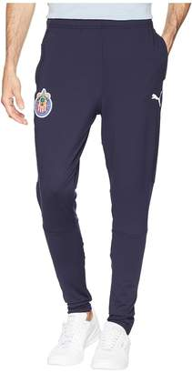 Puma Chivas Training Zip Pants with Two Side Pockets Men's Workout