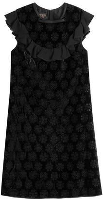 Giambattista Valli Mini Dress with Velvet and Cut-Out Detail