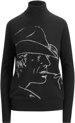 Ralph Lauren Turtleneck With Rl Long Sleeve Sweater