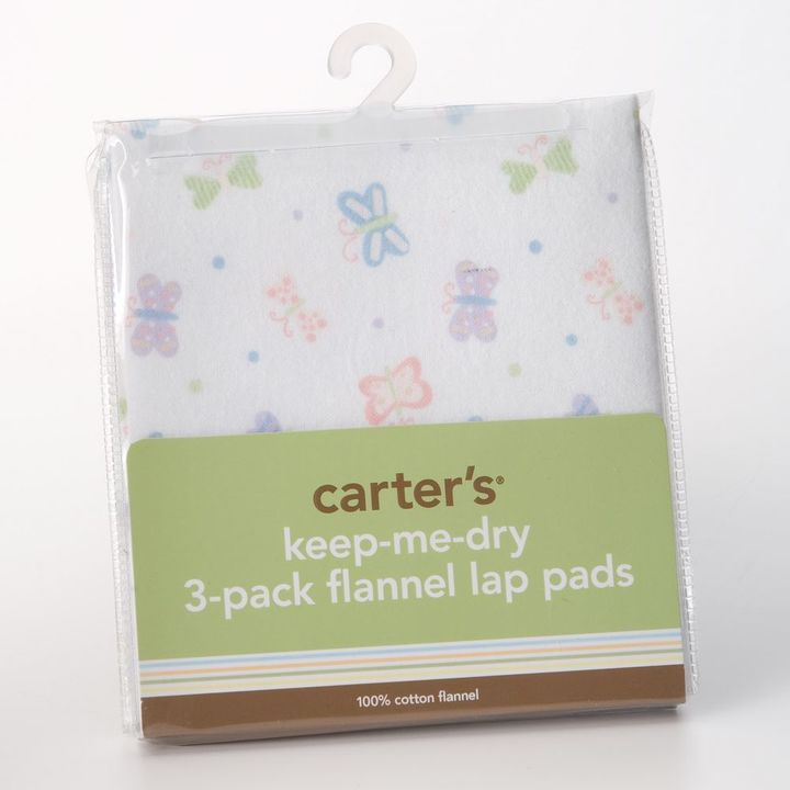 Carter's keep-me-dry 3-pk. flannel lap pads