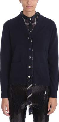 Marc Jacobs Blue Wool Jewel Buttons Cardigan