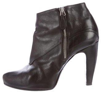 Balenciaga Balenciaga Leather Semi Pointed-Toe Ankle Boots