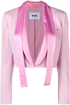 MSGM cropped longsleeved jacket