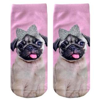 Living Royal - Pug with Bow Ankle Socks