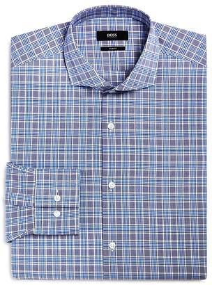 BOSS Plaid Check Slim Fit Dress Shirt