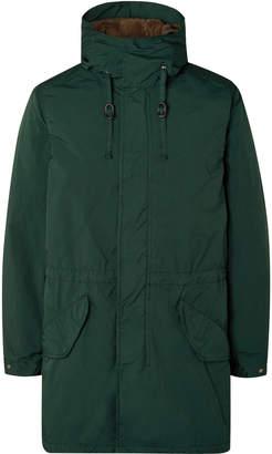 Aspesi Garment-Dyed Nylon Hooded Parka With Detachable Fleece Liner