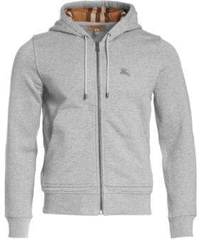 Burberry Men's Fordson Heathered Hoodie - Pale Grey - Size Large