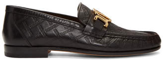 Versace Black Driver Loafers