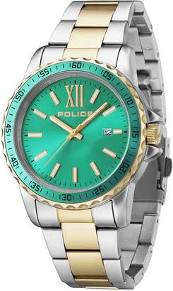 Police Women's PL14494JSTG19M Fashion Las Vegas Watch with 3 Hands with Date