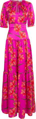 Borgo de Nor Alma Silk Hawaiian Lily Dress