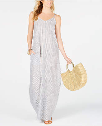 Raviya Cotton Striped Maxi Dress Cover-Up