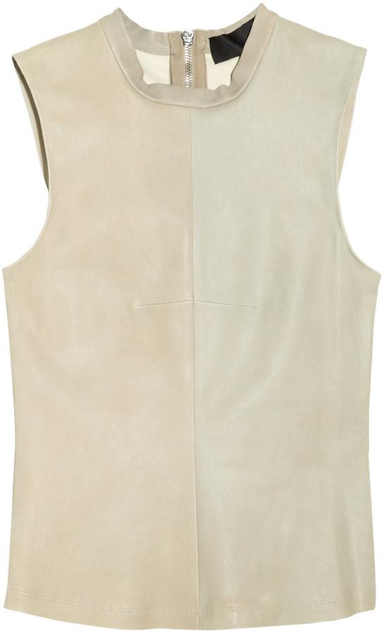 A.L.C. Bryn stretch-leather top