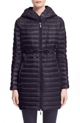 ... Moncler Barbel Water Resistant Long Hooded Down Jacket