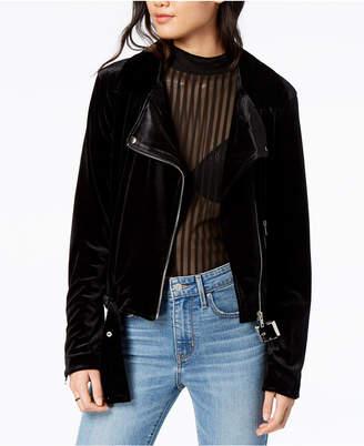 MinkPink Velvet Moto Jacket