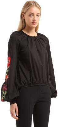 Stella Jean Embroidered Cotton Poplin Shirt