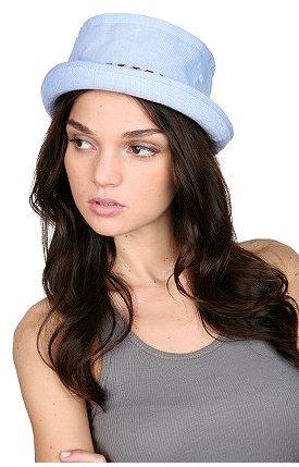 Chambray Porkpie Hat