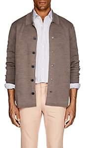 BEIGE P. Johnson Men's Merino Wool-Blend Cardigan - Beige, Tan