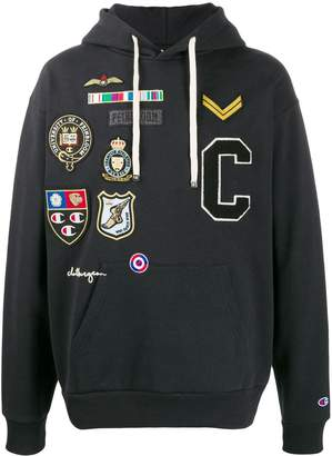 Champion x clothsurgeon patch hoodie