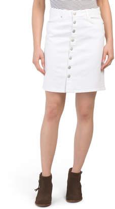 fe8c66973e Button Front Denim Skirt - ShopStyle
