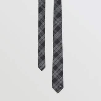 Burberry Modern Cut Check Silk Jacquard Tie
