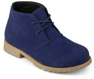 Brinley Co. Toddler Boy's Faux Suede Lace-up Chukka Boots