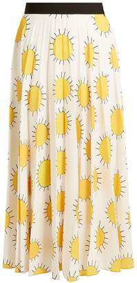 Christopher Kane Sun-print pleated cady skirt