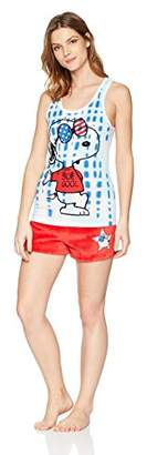 Peanuts Women's Snoopy 2-Piece Pajama Tank/Short Set