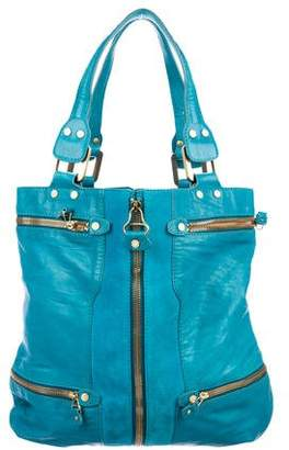 Jimmy Choo Leather Zipper Tote