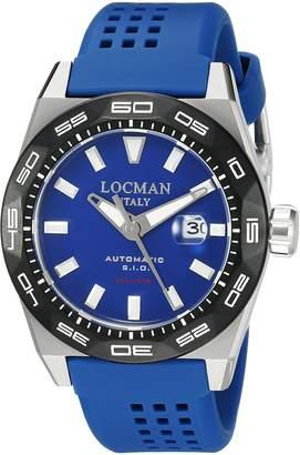 Locman Italy Men's 0215V3-0KBLNKS2B Stealth 300 Metri Analog Display Automatic Self Wind Watch