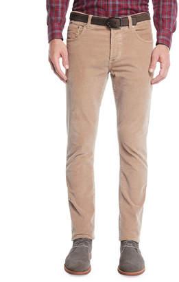Isaia Men's Straight-Leg 5-Pocket Corduroy Pants