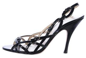 Dolce & Gabbana Leather Caged Sandals