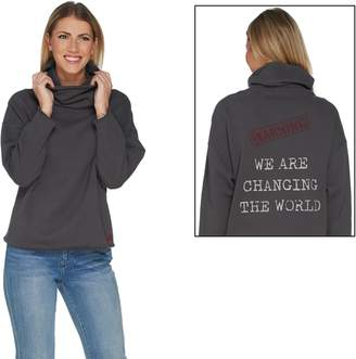 Peace Love World Mimi Fleece Saltwash Turtleneck Top