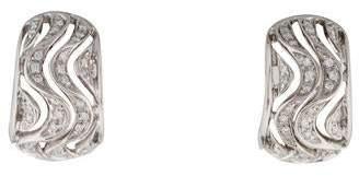 Chimento 18K Diamond Wave Huggie Earrings