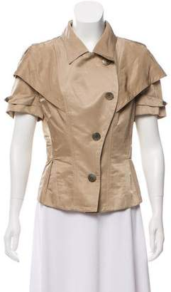 Nina Ricci Draped Short Sleeve Jacket