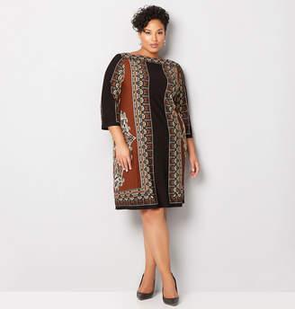 Avenue Tribal Print Sheath Dress