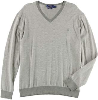 Ralph Lauren Mens Herringbone Pullover Sweater 2Xl