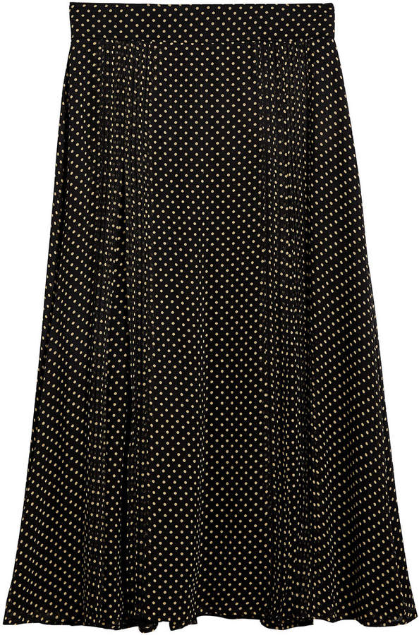 Burberry polka dot print skirt