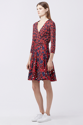 Jewel Silk Combo Wrap Dress $598 thestylecure.com