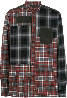 Lanvin contrast plaid shirt