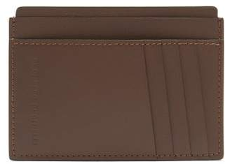 Brunello Cucinelli Logo-debossed leather cardholder