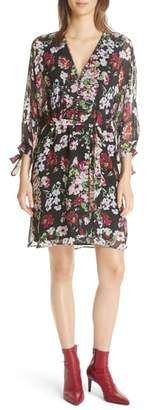 Equipment Natasha Floral Print Silk Dress