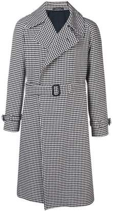 Tagliatore dogtooth trench coat