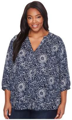 NYDJ Plus Size Plus Size Pintuck Blouse Women's Blouse
